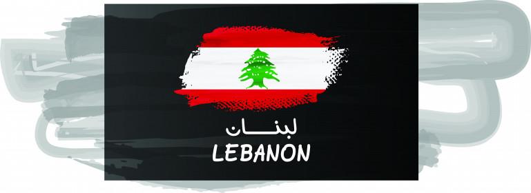 فكتور لعلم دولة لبنان ، مقسم الى ثلاث اجزاء ، العلوي والسفلي باللون الاحمر ، الوسط باللون الابيض ، يتوسطه أرزة خضراء ، فكتور الستريتور